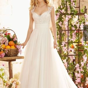 Morilee Wedding Dress with Embroidery on Soft Net